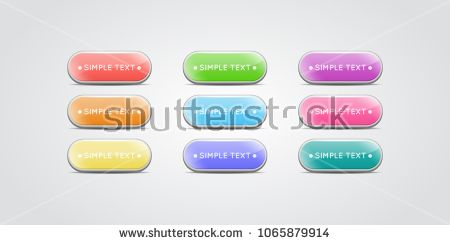 image transparent download Set of isolated glossy. Vector buttons colored
