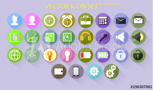 clip art freeuse library Beautiful icons for different. Vector buttons colored