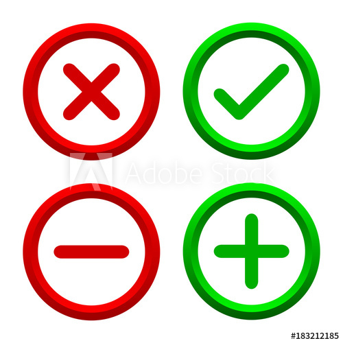 banner freeuse download Vector buttons cross. Set of four simple
