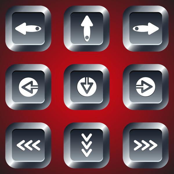 image freeuse Navigation illustration on black. Vector buttons digital