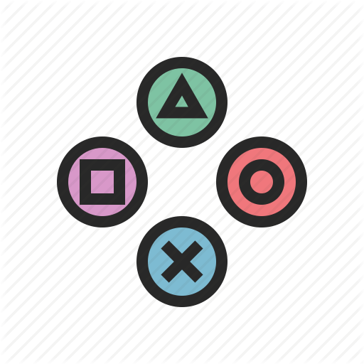 svg black and white library By sergey tikhonov controller. Vector buttons game