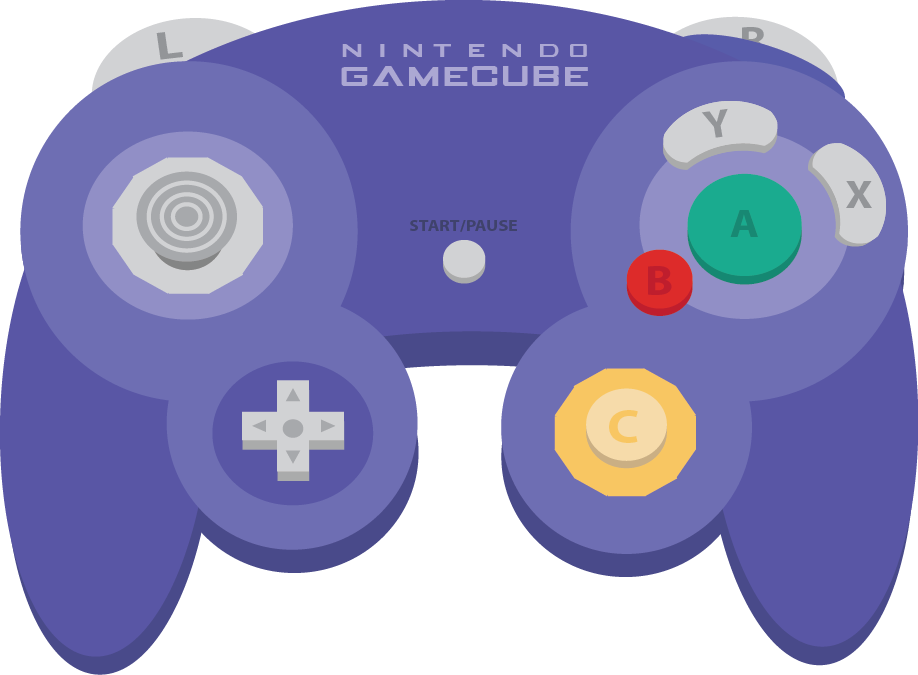 clipart transparent stock Vector buttons game.  gamecube controller png
