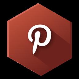free stock Pinterest icon hexagonal social. Vector buttons hexagon