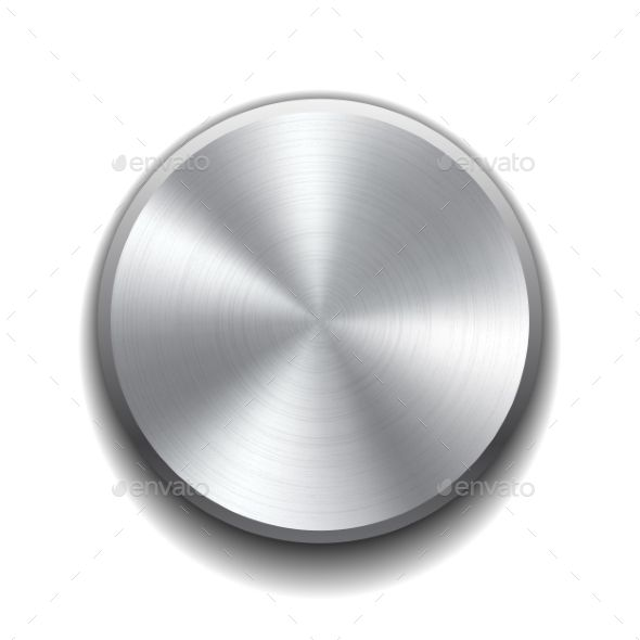image free Realistic button with circular. Vector buttons metal