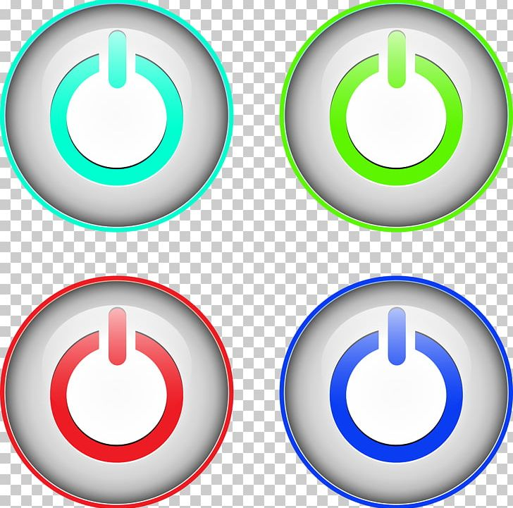 image freeuse stock Switched mode supply push. Vector buttons power