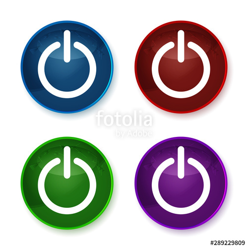 clipart transparent library Vector buttons power. Icon shiny round set