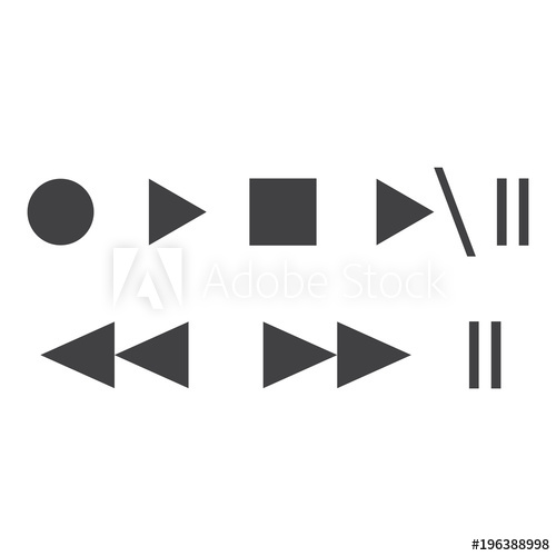 picture library Illustration media player icons. Vector buttons record