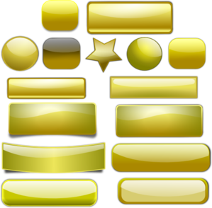 clip royalty free download Golden clip art at. Vector buttons web page