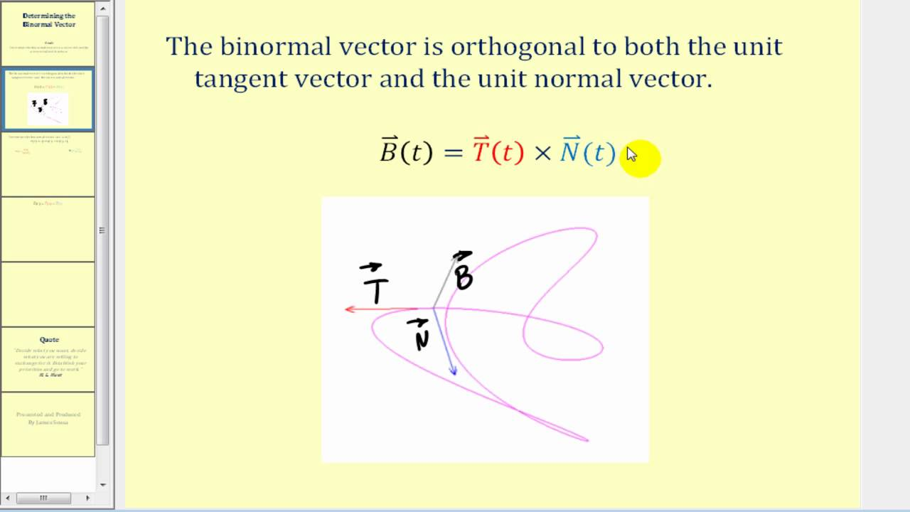 image black and white stock Determining the . Vector calc binormal