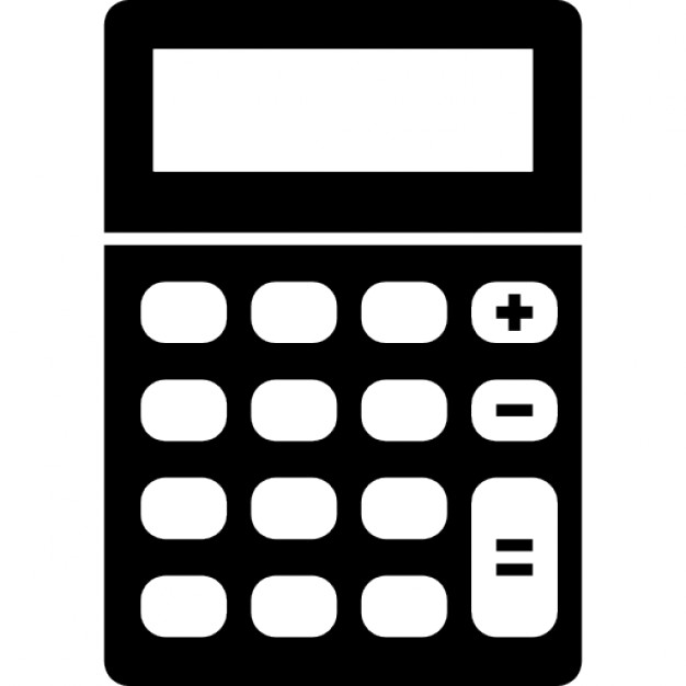 png black and white library Vector calculation calculator. Icon calculate free icons