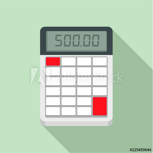 picture black and white stock Vector calculation financial. Calculator icon flat illustration