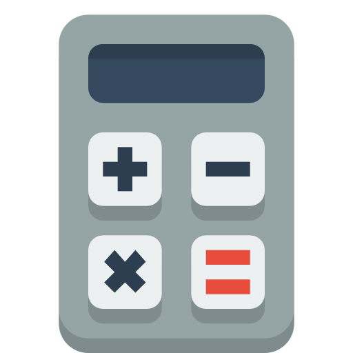 graphic Calculator icon free of. Vector calculation flat