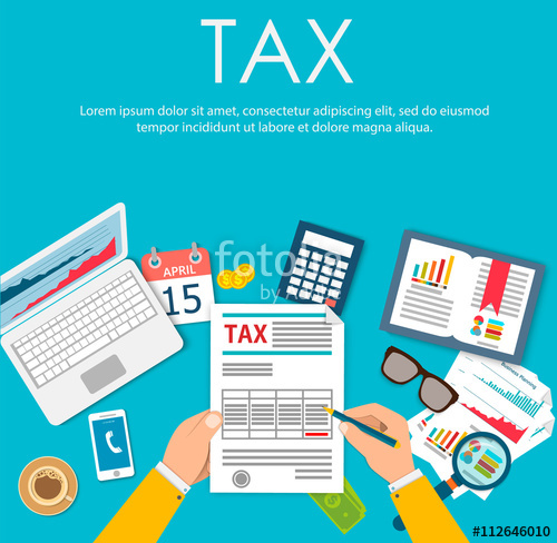 clip transparent stock Payment government taxes state. Vector calculation tax