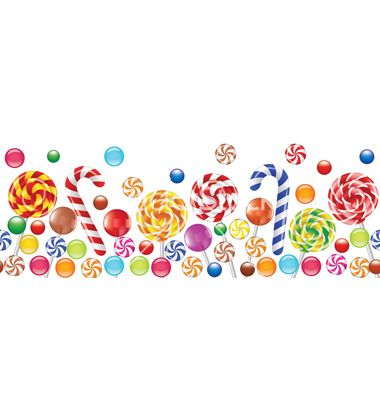 transparent stock Vector candy background. Candies land party