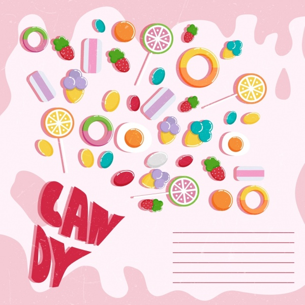 clip transparent library Candies colorful shaped icons. Vector candy banner