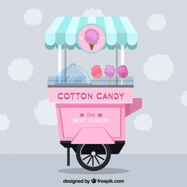clip art freeuse library Vector candy cute. Cotton cart free cep