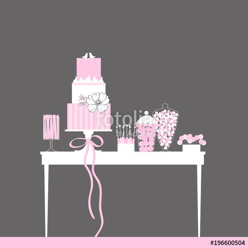 svg freeuse download Vector candy dessert. Bar with wedding cake