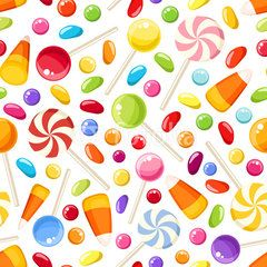 clip free stock Vector candy easter. Seamless background with halloween