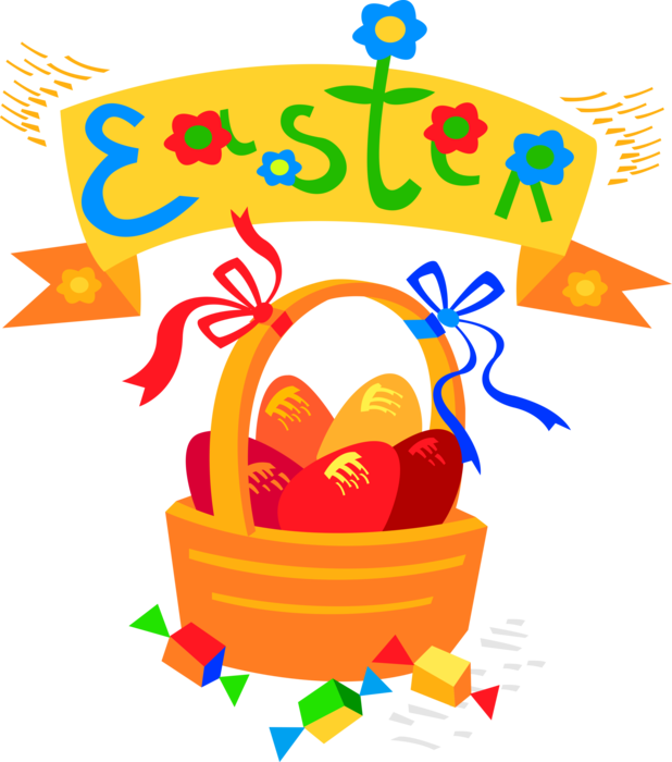 clip art freeuse library Vector candy easter. Eggs and treats image