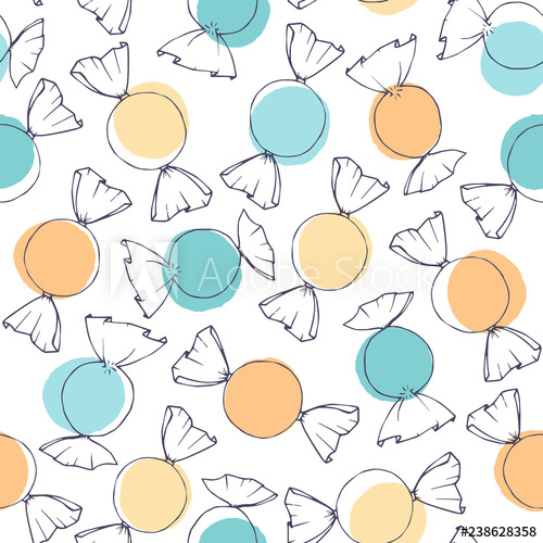 clipart black and white download Vector candy easter. Hand drawn outline with