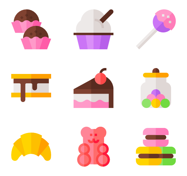 vector free download Bear icons free sweet. Vector candy gummy