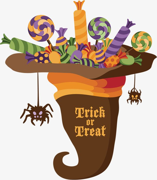 black and white stock In . Vector candy halloween