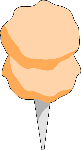 graphic library library Vector candy orange. Cotton clip art at
