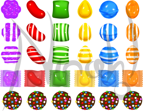 image transparent library Crush by nina on. Vector candy pattern
