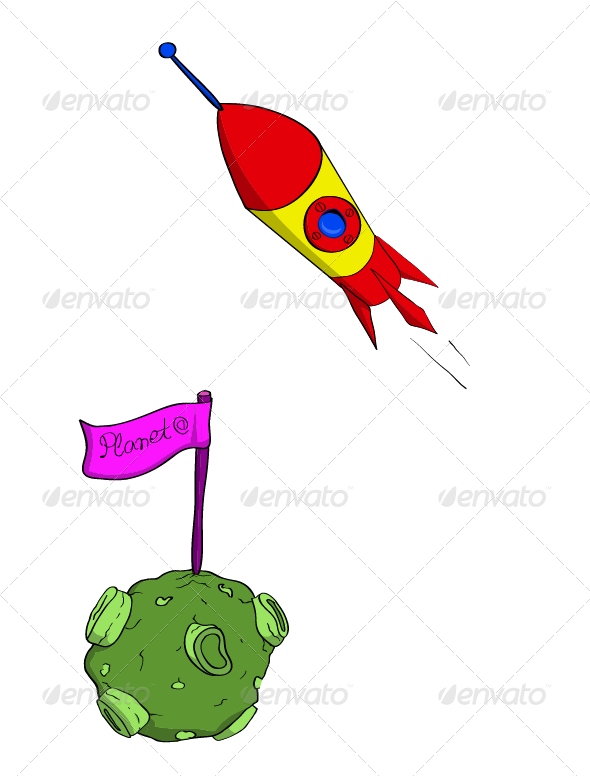 graphic royalty free stock Rocket and pinterest alien. Vector candy planet