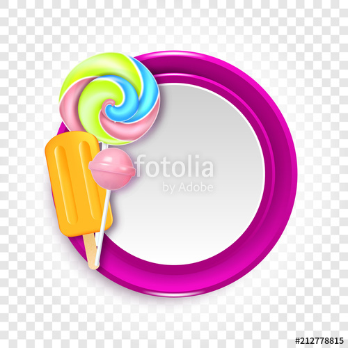 clip free library Vector candy round. Illustration with candies sweets