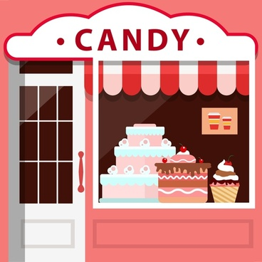 clip art black and white stock Free download for . Vector candy shop