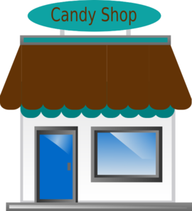 image black and white stock Front clip art at. Vector candy shop