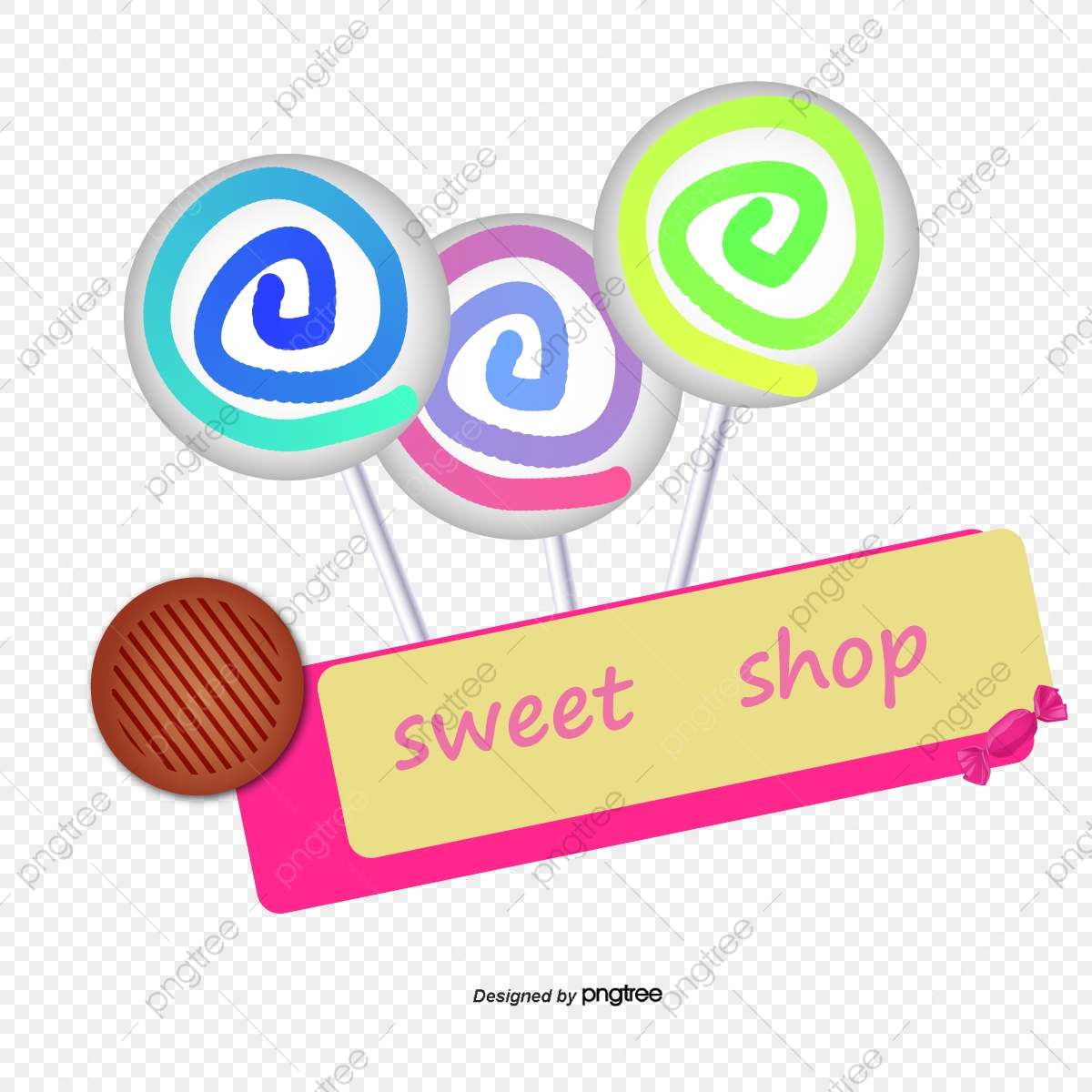 picture transparent download Colored sign decoration png. Vector candy shop