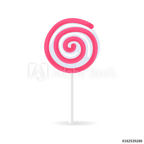graphic black and white stock Vector candy spiral. Swirl lollipop isolated on