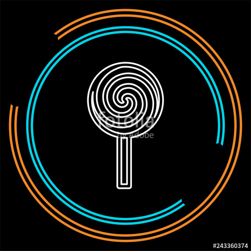 graphic royalty free download Lollipop stock image . Vector candy sweet