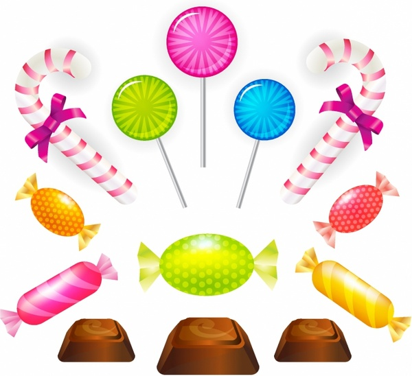 graphic library stock Vector candy sweet. Set free in adobe