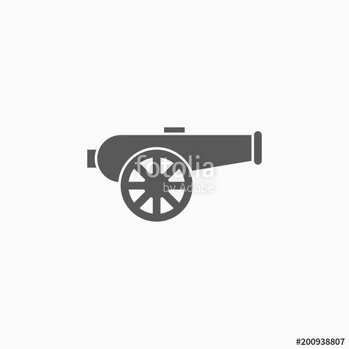vector library download Icon stock image and. Vector cannon artillery
