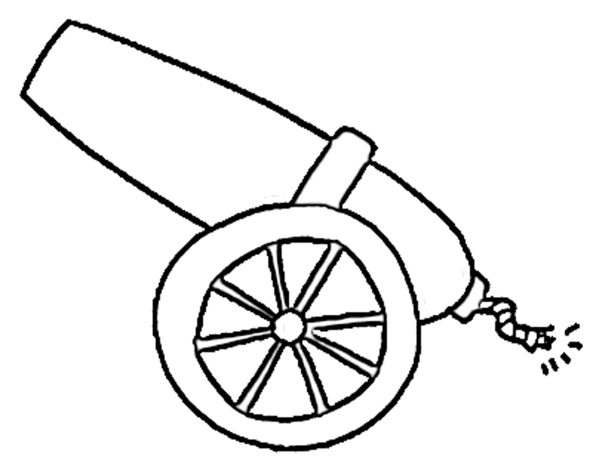graphic royalty free Drawing clip art library. Vector cannon easy draw