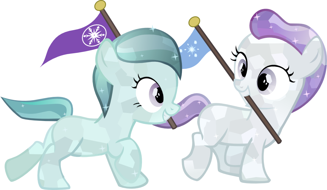 clip art freeuse library Crystal fillies by brony. Vector cannon filly