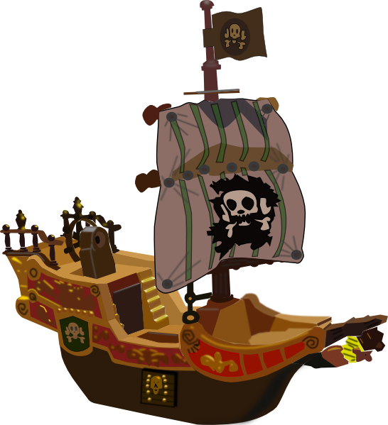 banner transparent Vector cannon ship. Pirates clipart free pirate
