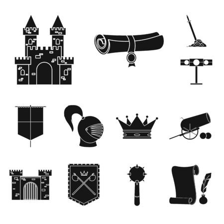 banner stock Illustration of and renaissance. Vector cannon traditional