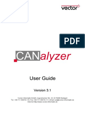 jpg royalty free stock Canalyzer user guide v. Vector cantech reference chart