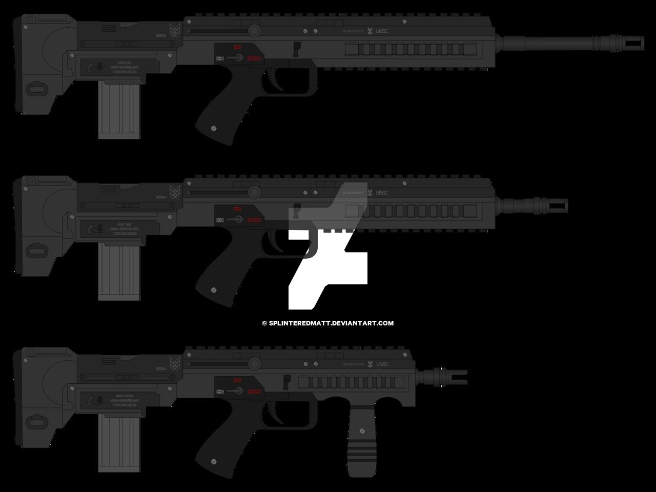 png royalty free stock M rifle by splinteredmatt. Vector carbine 3d printed