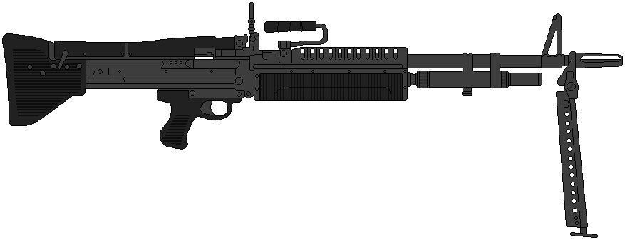 banner freeuse library Vector carbine badass. Us army machine gun