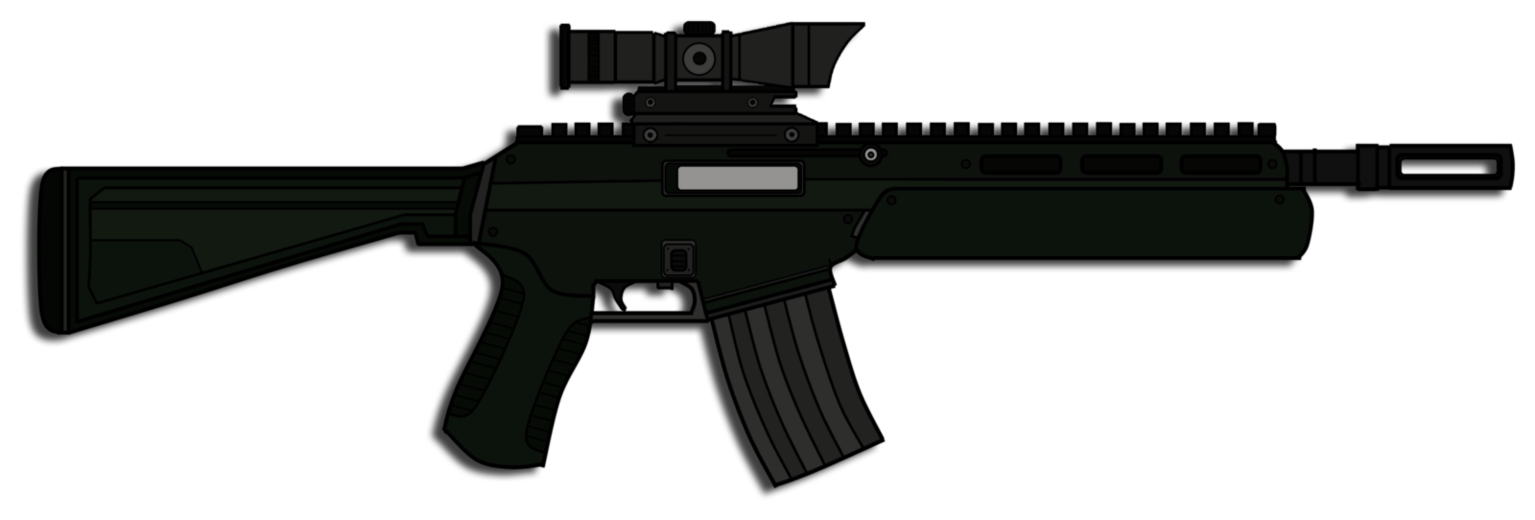 picture black and white download Vector carbine camo.  assault rifle png
