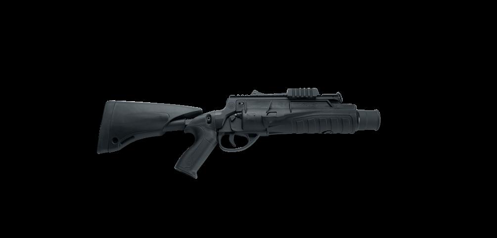 black and white Vector carbine grenade launcher. Glx a beretta defense