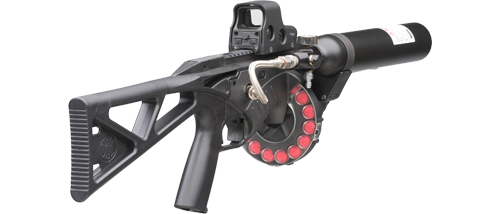 vector free Fn less lethal launcher. Vector carbine holographic sight