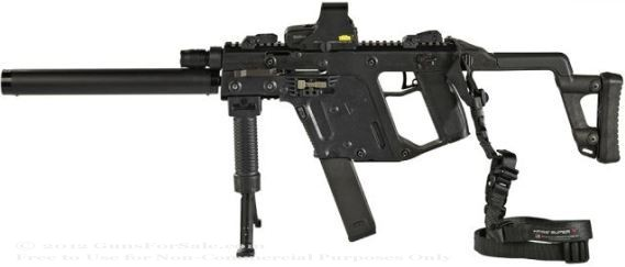 banner black and white library Vector carbine holographic sight. Kriss usa crb with