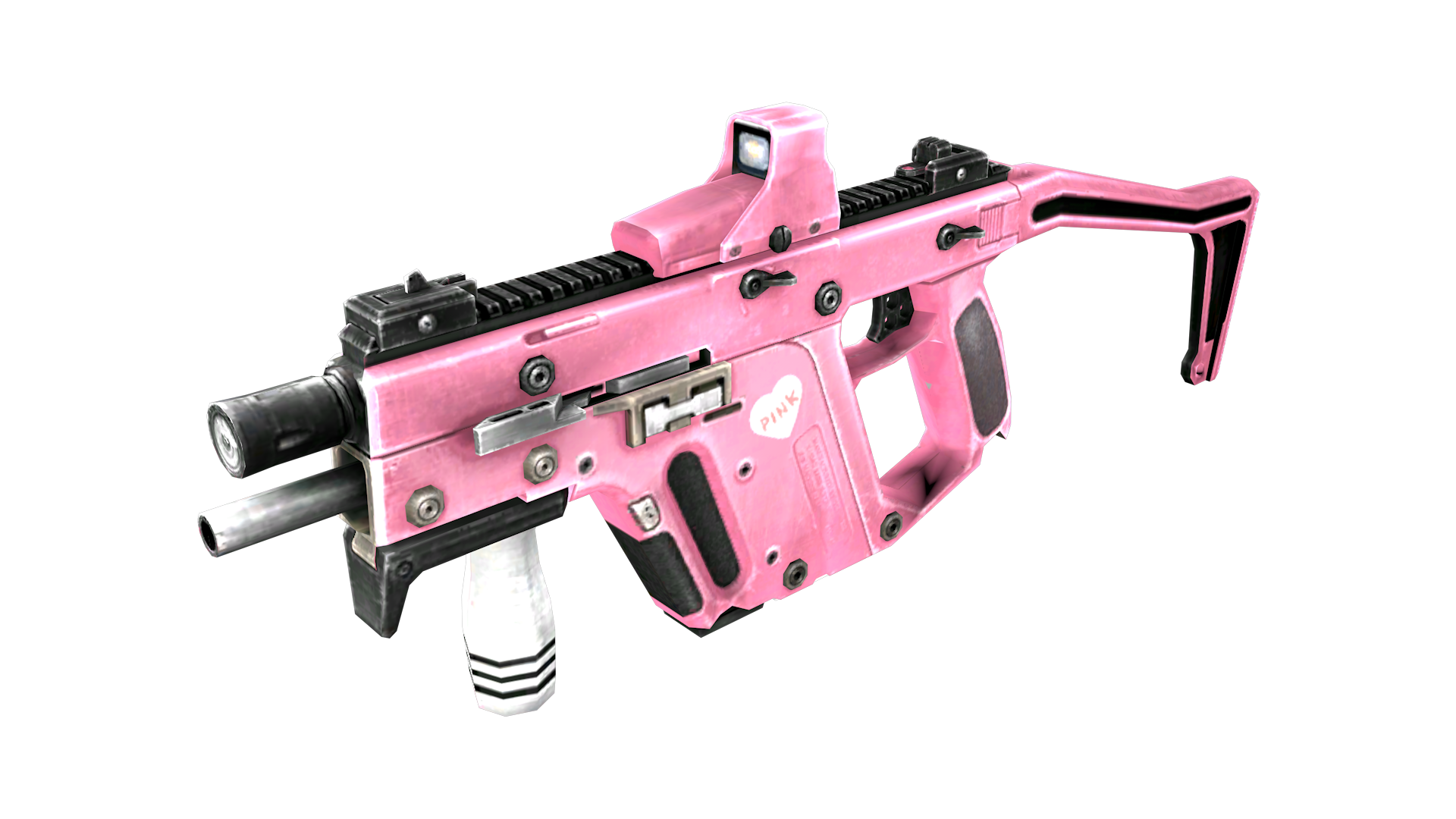 clip art royalty free library Image pink png crossfire. Vector carbine kriss super v