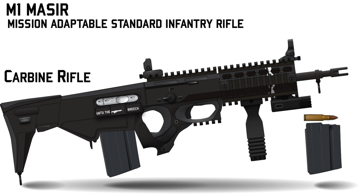 jpg black and white Vector carbine military rifle. M masir by afterskies
